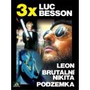 Kolekce 3x Luc Besson (Leon, Brutální Nikita, Podzemka) (DVD)