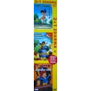 Kniha džunglí 1, Kniha džunglí 2: Mauglího kamarádka, Pinocchio a vláce noci 3DVD + DÁREK vystřihovánka (DVD)