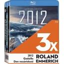 3x Roland Emmerich 3BD (2012, Godzilla, Den nezávislosti) (Bluray) - ! SLEVY a u nás i za registraci !