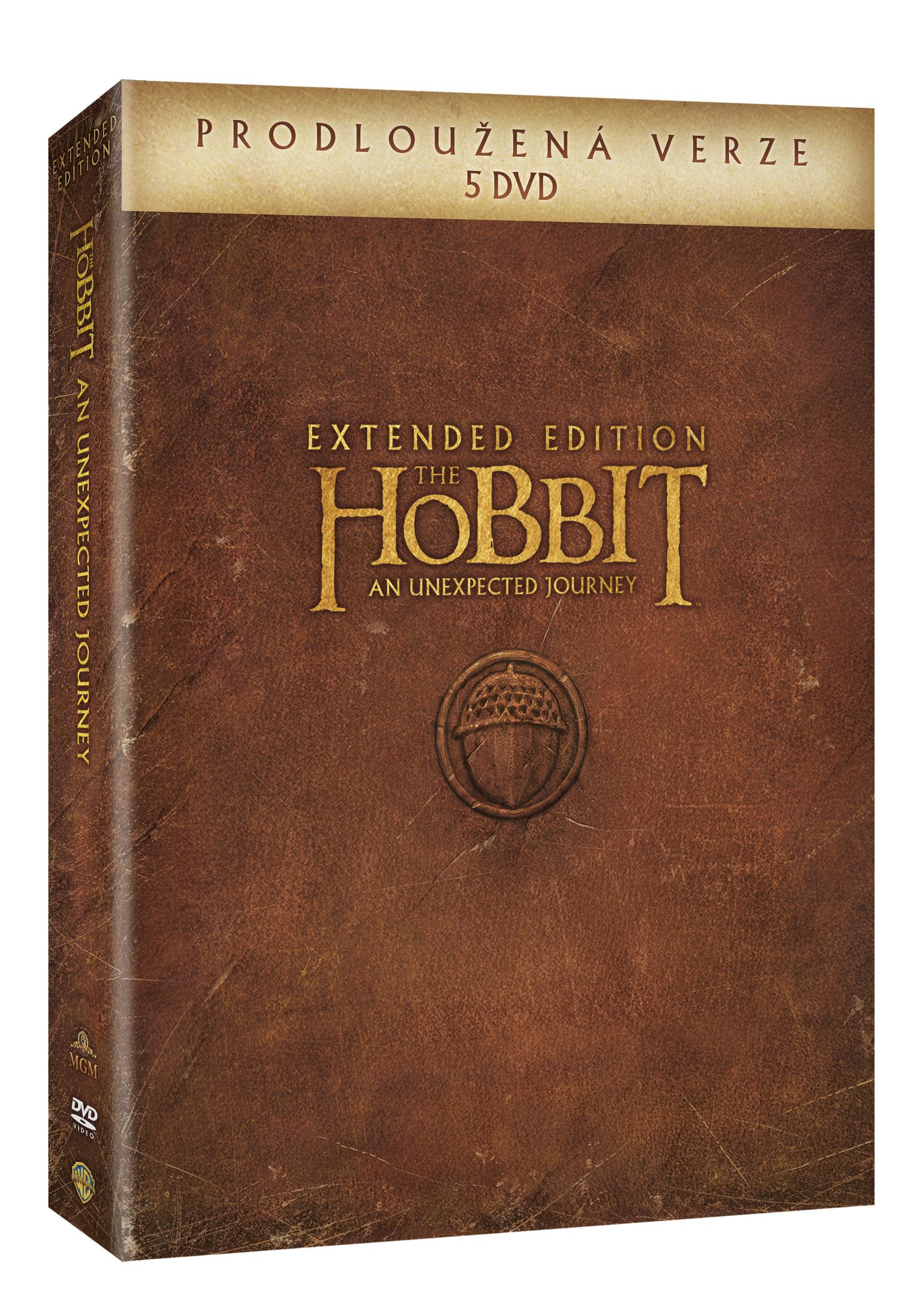 Hobit: Neočekávaná cesta - prodloužená verze 5DVD (DVD)