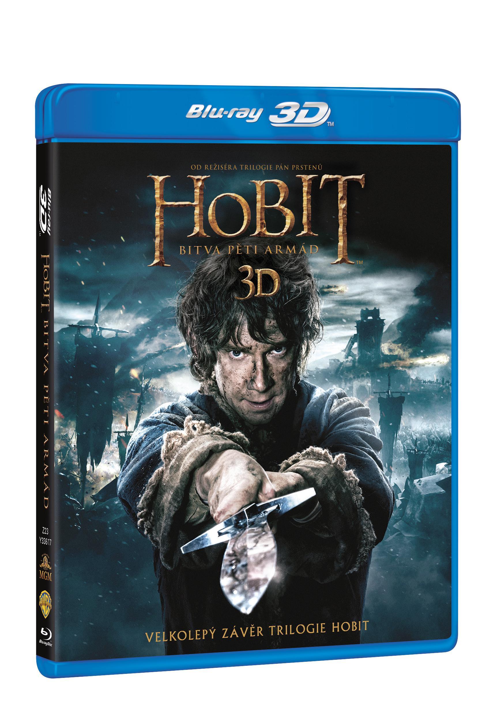Hobit: Bitva pěti armád 2D + 3D 4BD (Hobit 3) (Bluray)
