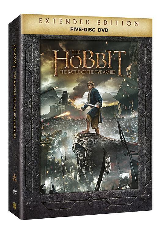 Hobit: Bitva pěti armád PRODLOUŽENÁ VERZE 5DVD (Hobit 3) (DVD)