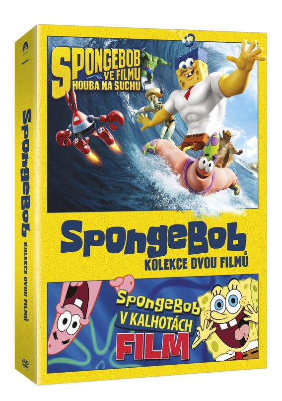 SpongeBob kolekce 1. - 2. 2DVD (SpongeBob ve filmu: Houba na suchu + Spongebob v kalhotách) (DVD)