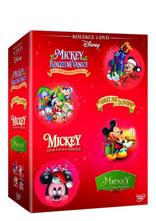 Vánoční Mickey kolekce 4DVD (Disney) (DVD)