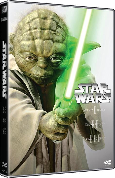 Star Wars: Prequel Trilogie 3DVD (1, 2, 3) (Hvězdné války) (DVD)