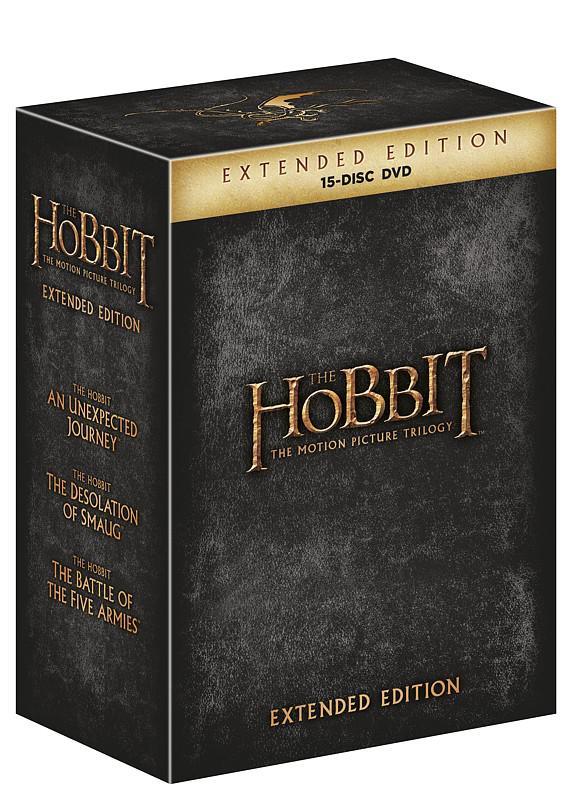 Hobit kolekce 1.-3. - prodloužené verze 15DVD (Hobit 1 - 3) (DVD)