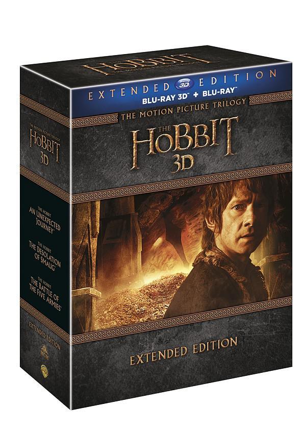 Hobit kolekce 1.-3. - prodloužené verze 3D + 2D 15BD (Hobit 1 - 3) (Bluray)