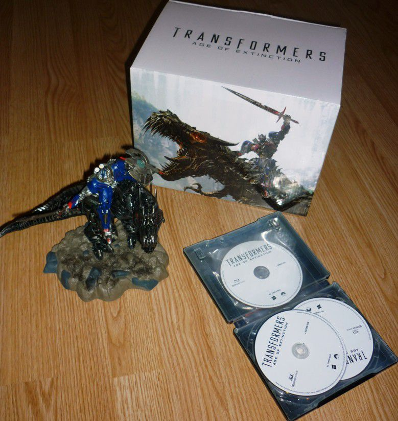 Transformers 4: Zánik (sběratelské balení Dinobot) 2BD (3D+bonus BD) steelbook (Bluray) (Bazar)