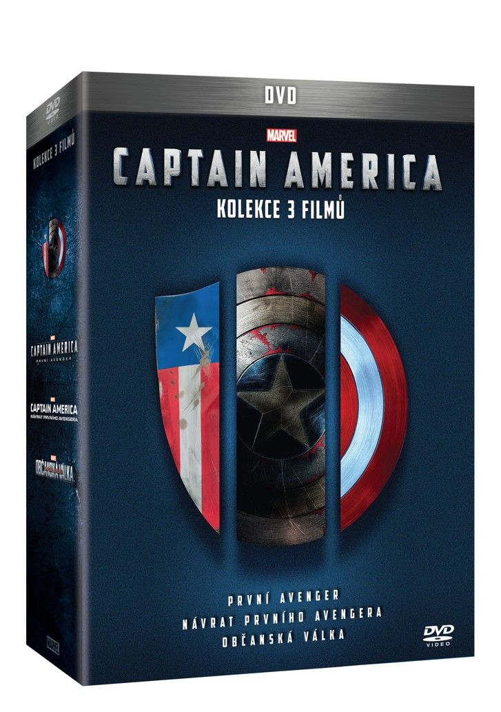 Captain America trilogie 1 - 3 3DVD (DVD)