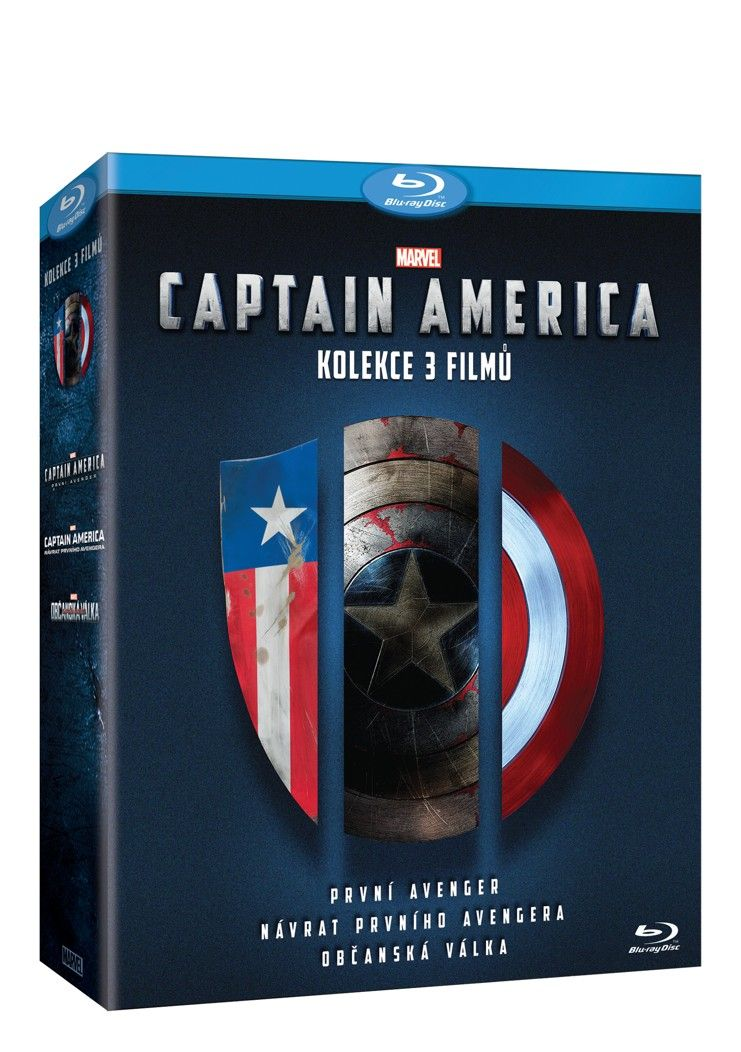 Captain America trilogie 1 - 3 3BD (Bluray)