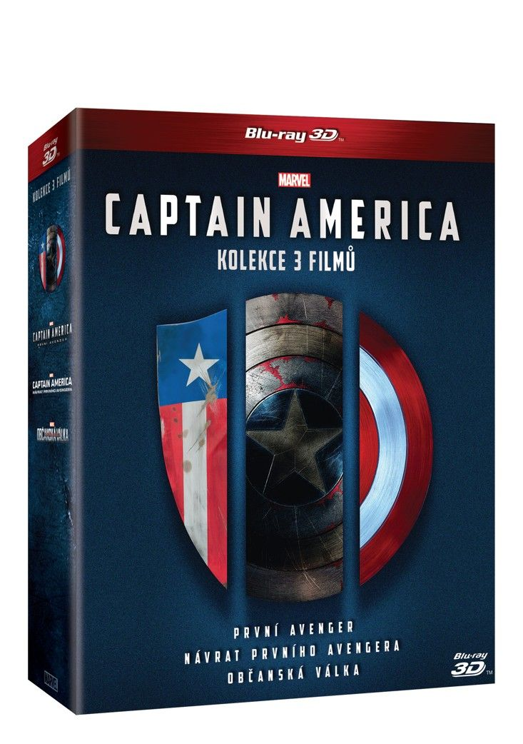 Captain America trilogie 1 - 3 3D + 2D 6BD (Bluray)