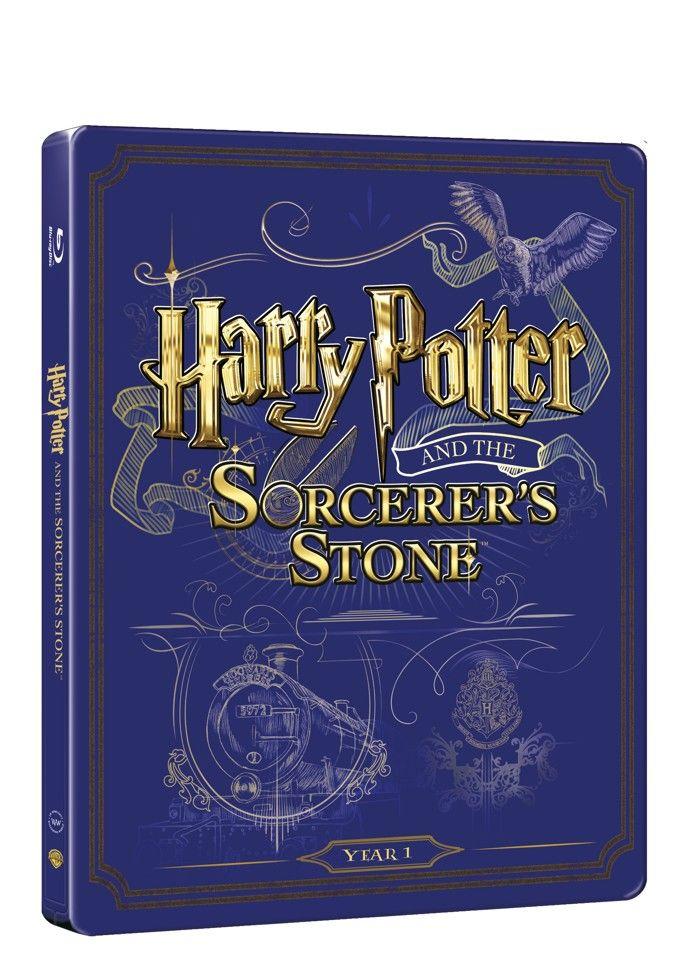 Harry Potter a kámen mudrců (BD + DVD bonus) - steelbook (Bluray)
