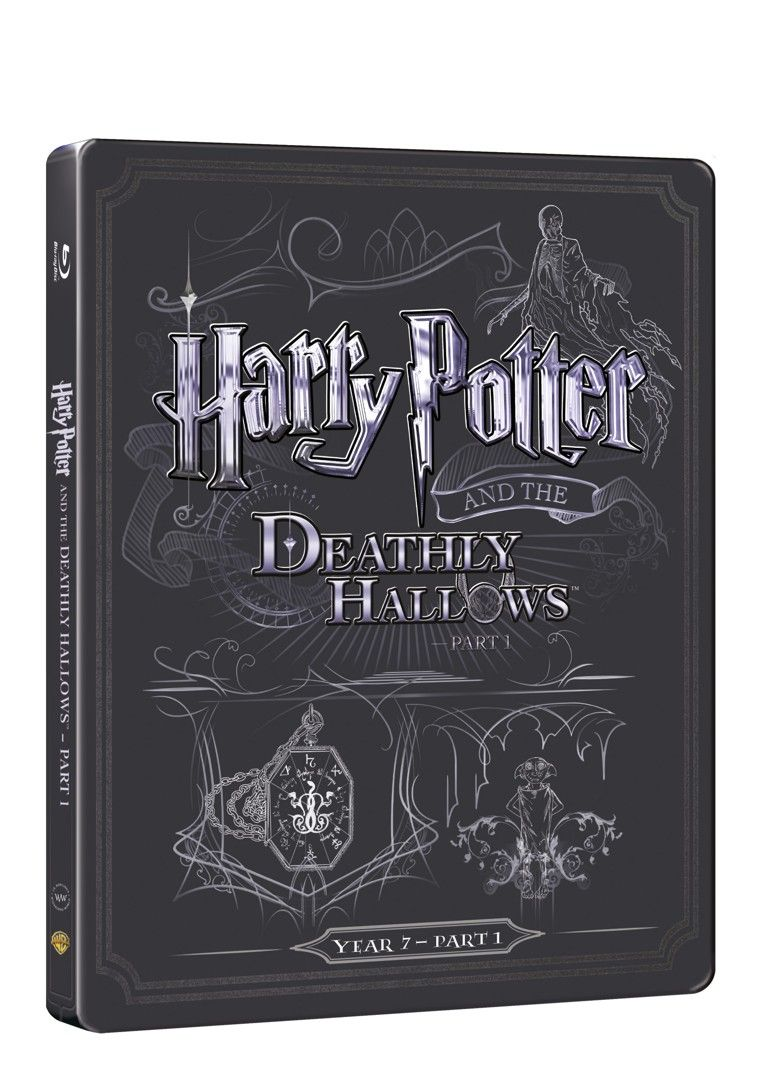 Harry Potter a Relikvie smrti - část 1. (BD + DVD bonus) - steelbook (Bluray)