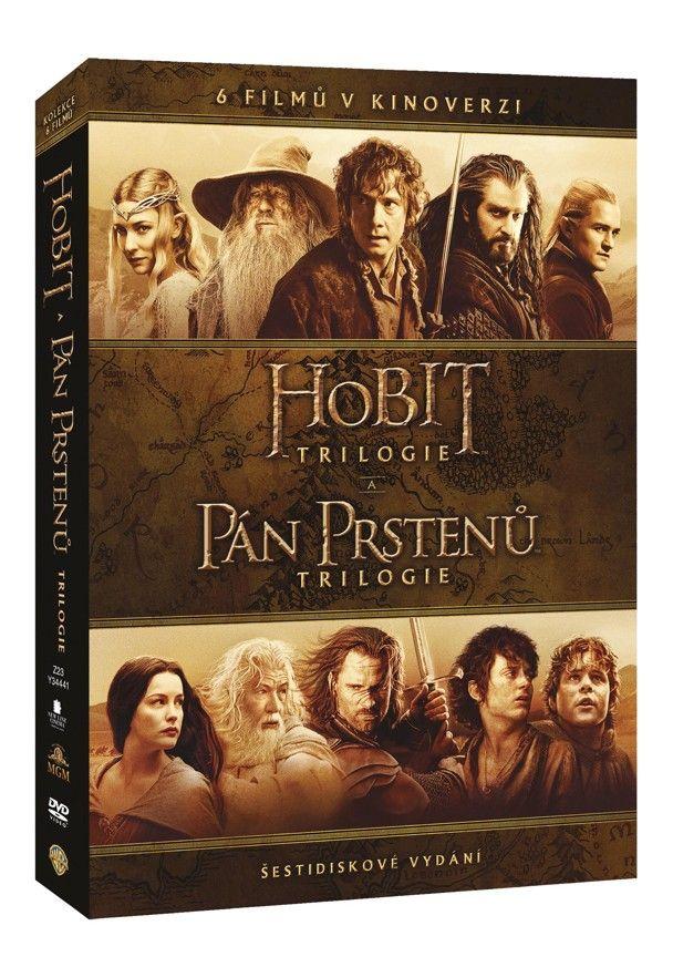 Kolekce Středozemě HOBIT + PÁN PRSTENŮ (kinoverze) 6DVD (DVD)