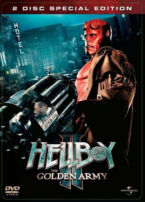 Hellboy 2: Zlatá armáda 2DVD STEELBOOK (DVD)